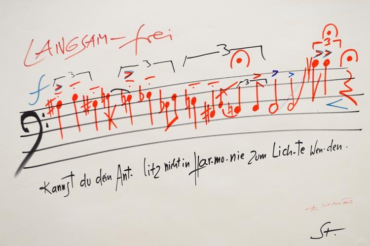 Sound goes Image – Partituren zwischen Musik und Bildender Kunst heißt eine Sonderausstellung des Horst-Janssen-Museums in Oldenburg. Unter anderem werden Arbeiten von Karlheinz Stockhausen gezeigt.