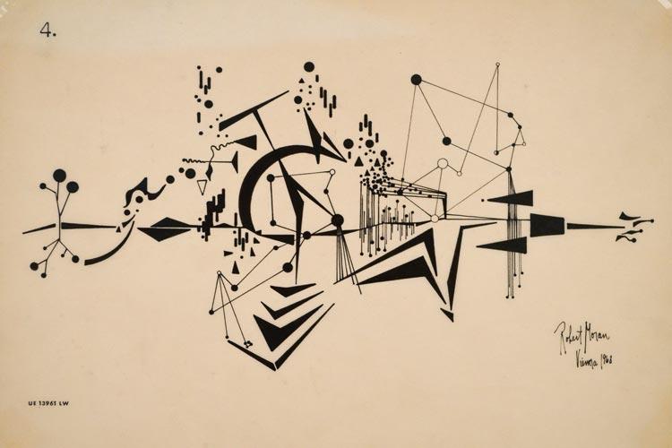 Robert Morans Arbeit erinnert an Wassily Kandinsky und wurde nie aufgeführt.