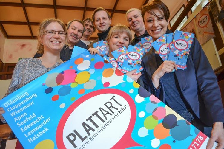 Wirken am PLATTart-Festival mit: Gesche Gloystein, Michael Brandt, Uwe Schwettmann, Stefan Meyer, Frank Fuhrmann, Insina Lüschen und Annie Heger.
