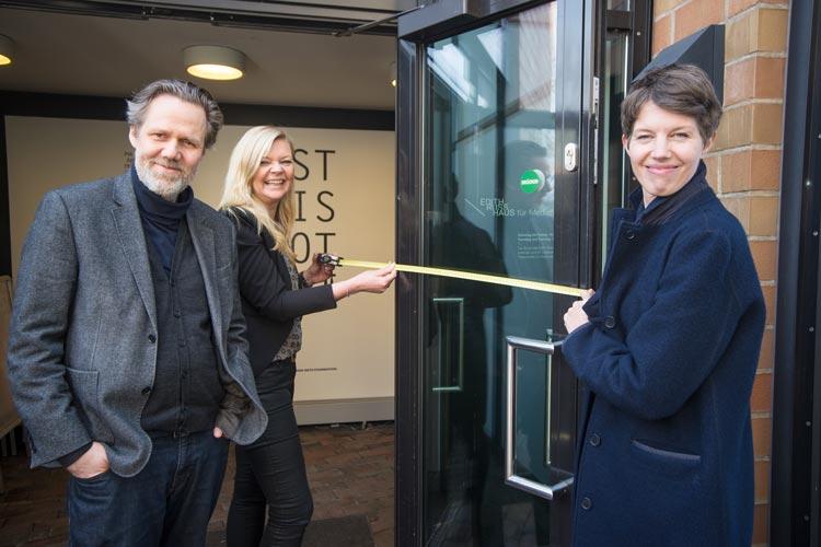 Uta Tyrasa, Marcel Schwierin und Sandrine Teuber haben das Oldenburger Projekt Reisen für alle vorgestellt.