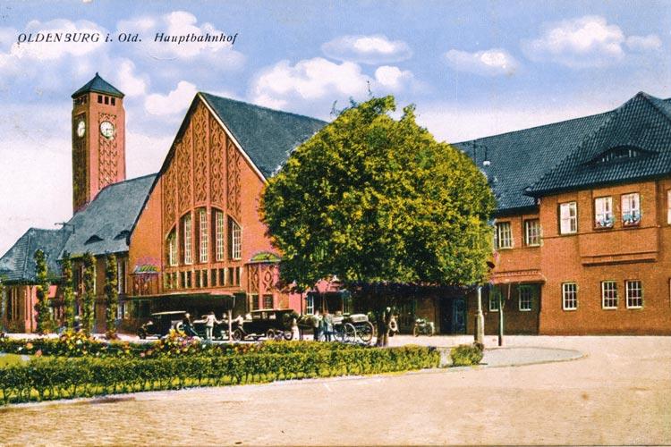 Oldenburger Hauptbahnhof um 1920.