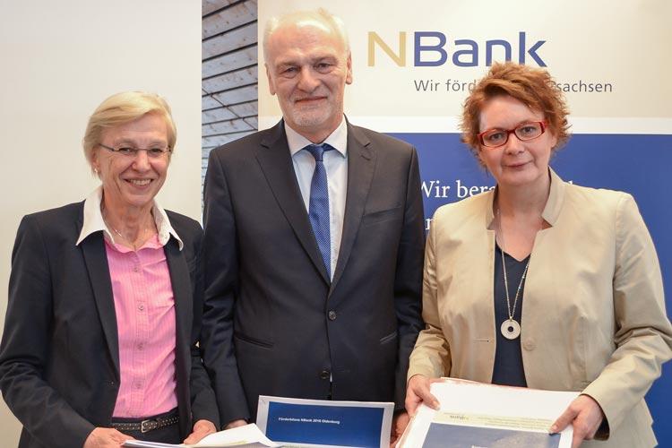 Dr. Sabine Johannsen, Franz-Josef Sickelmann und Daniela Behrens zogen Bilanz für die NBank.