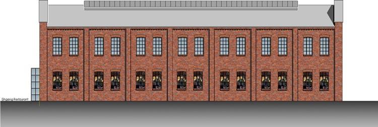 Durch die Sanierung der Bauwerkhalle würde die Fassade ihren ursprünglichen Charakter zurückerhalten.