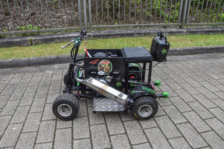 Die Polizei hat in Oldenburg das GoKart namens Bierkiste sichergestellt.