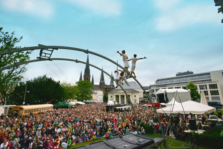 Die Trapezartisten von Omnivolant haben schon im vergangenen Jahr die Besucher des Kultursommers begeistert.