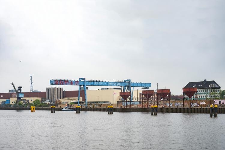 Auf dem ehemaligen Gelände von Rhein-Umschlag soll das Theaterzelt aufgestellt werden.