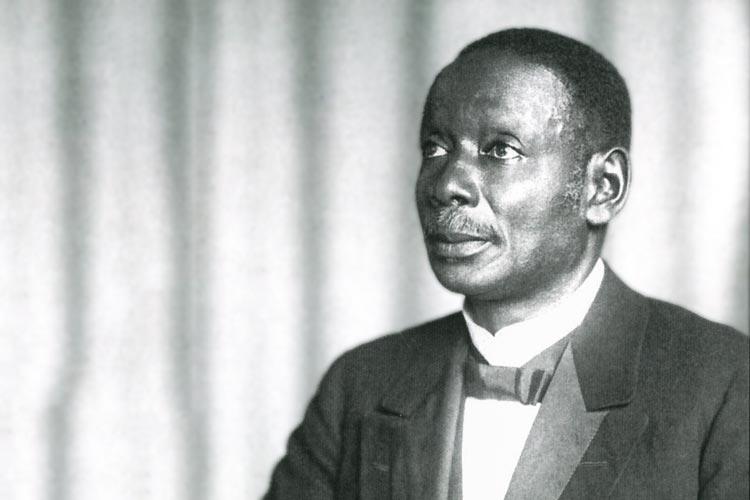 Der afrikanische Pastor Robert Kwami hielt 1932 eine Predigt in Oldenburg.