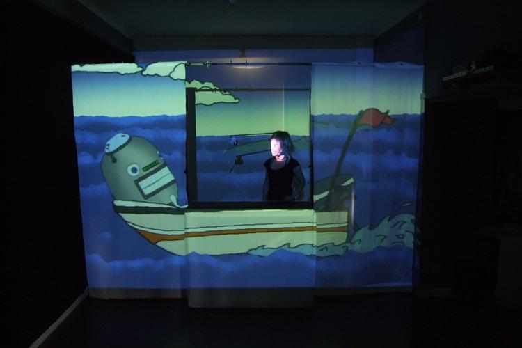 Jona und ihr selbstgebauter Roboter Kiste machen sich auf die Suche nach den Tränen der Meerjungfrau.