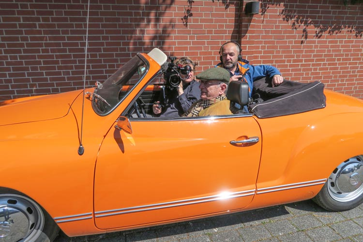 Dreharbeiten zur Dokumentation Made in Norddeutschland – Kult Karosse Karmann.