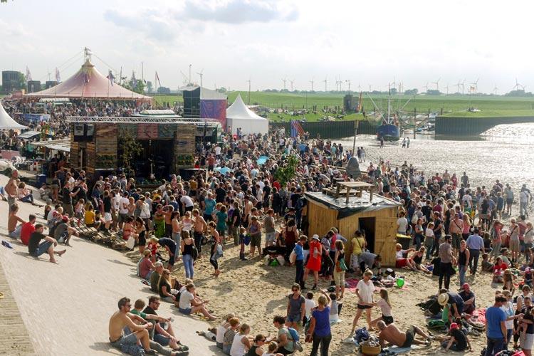 Das Watt en Schlick-Festival in Dangast ist Stimmung pur.