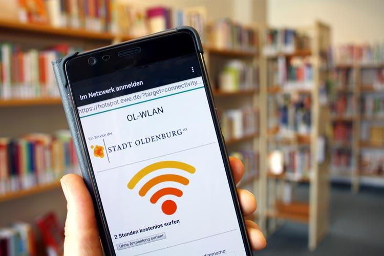 Die Stadtbibliothek Oldenburg bietet ab sofort freies WLAN an.