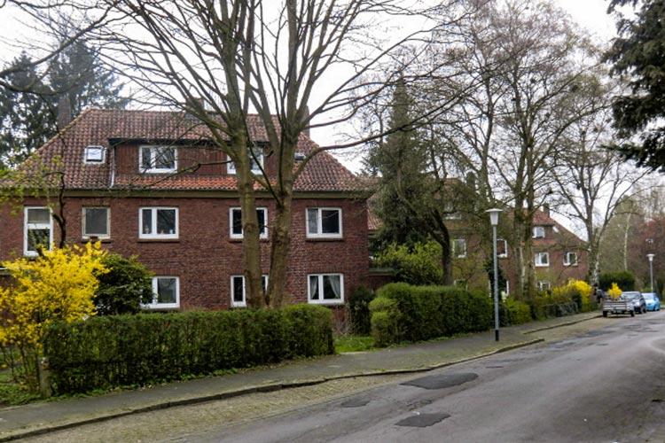 Auf Licht, Luft und Grünanlagen wurde in der Arbeitersiedlung Breslauer Straße großer Wert gelegt.