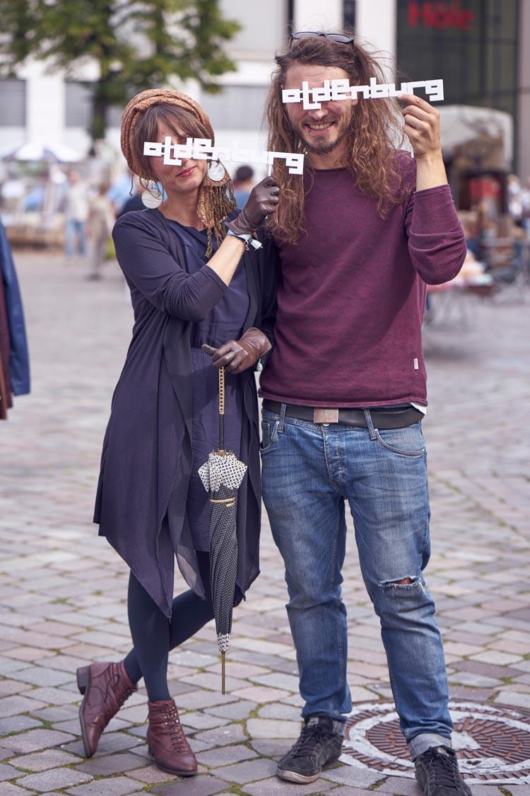 Hauke Beck und Freundin Anne haben die beste Filmfestsiegerpose dargestellt.