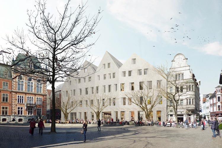 Und so soll es werden: der Siegerentwurf aus dem Wettbewerb für das Bauprojekt am Oldenburger Marktplatz.