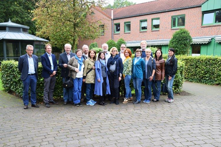 Zu Besuch bei den Gemeinnützigen Werkstätten Oldenburg e.V. – die Delegation aus dem russischen Archangelsk mit Vertretern der GWO und der Gesellschaft Deutschland-Russland / Dagestan.