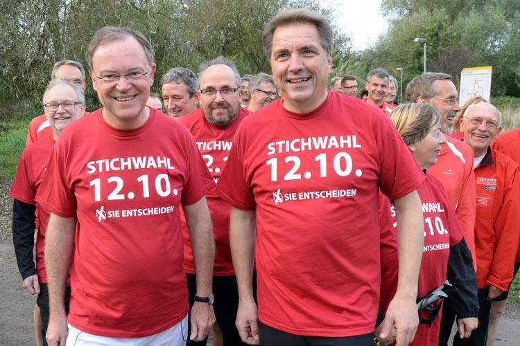 Ministerpräsident Stephan Weil hat Oldenburgs Oberbürgermeister Jürgen Krogmann bei seinem Wahlkampf unterstützt.