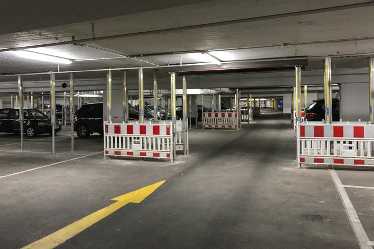 Kurzfristig könnten in der CCO-Tiefgarage insgesamt 170 Parkplätze wieder zur Verfügung gestellt werden.