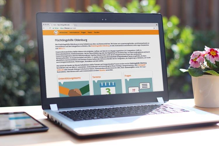 Die neue Website der Flüchtlingshilfe Oldenburg bietet umfassende Informationen.