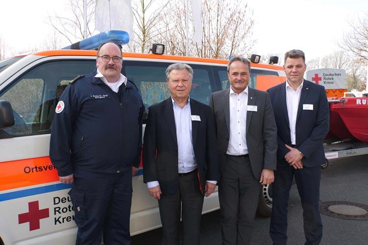 Stellten heute die neuen Leistungen für Mitglieder vor (von links): Volkmar Schultz-Igast, Dieter Holzapfel, Bernd Schmitz und Andreas Speich.