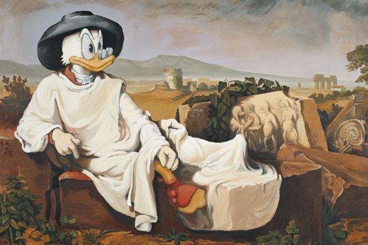 """uch """"Goethe in der roemischen Campagna"""" von Johann H. W. Tischbein ist ein Stück des Entenuniversums."""