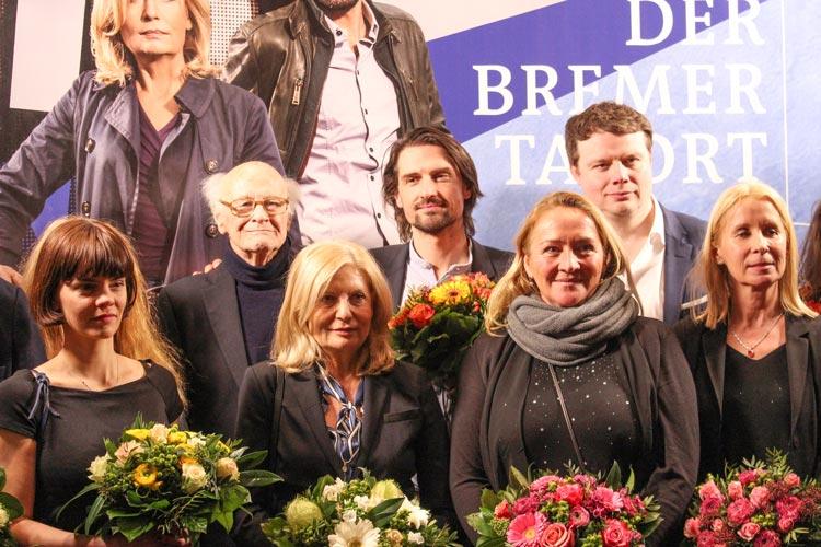 Camilla Renschke, Dieter Schaad, Sabine Postel, Regisseur Philipp Koch, Carmen Molinar, Produzent Michael Polle, Autorin Katrin Bühlig (von links).