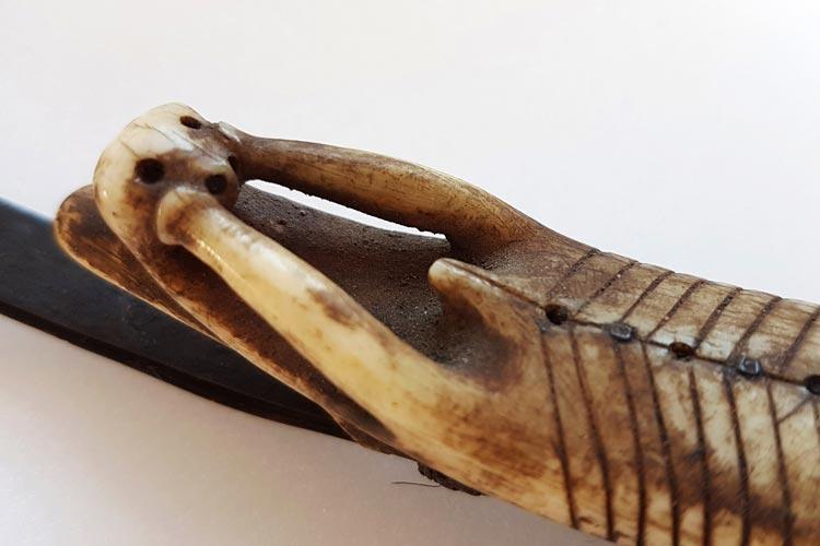 Otterfigur aus der Ethnologischen Sammlung des Landesmueseum Natur und Mensch in Oldenburg.