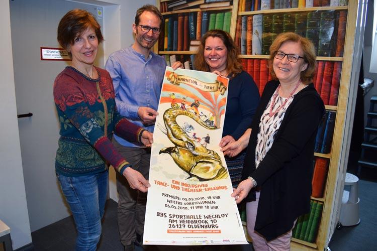 """Insgesamt 150 Beteiligte setzen die originelle Tierparade des französischen Komponisten Camille Saint Saëns (""""Karneval der Tiere"""") musikalisch, tänzerisch und schauspielerisch um und wollen damit gleichzeitig die Vielfalt der Menschen in Oldenburg zeigen."""