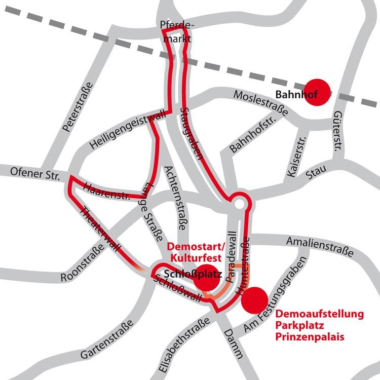 Die neue Route des CSD Nordwest.