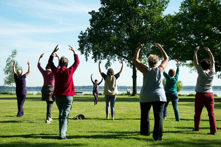 Qigong-Übungen für Anfänger und Fortgeschrittene – umsonst und draußen – werden im Kurpark in Bad Zwischenahn angeboten