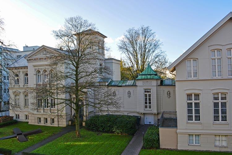 Stadtmuseum Oldenburg, Rückseite mit Villen.