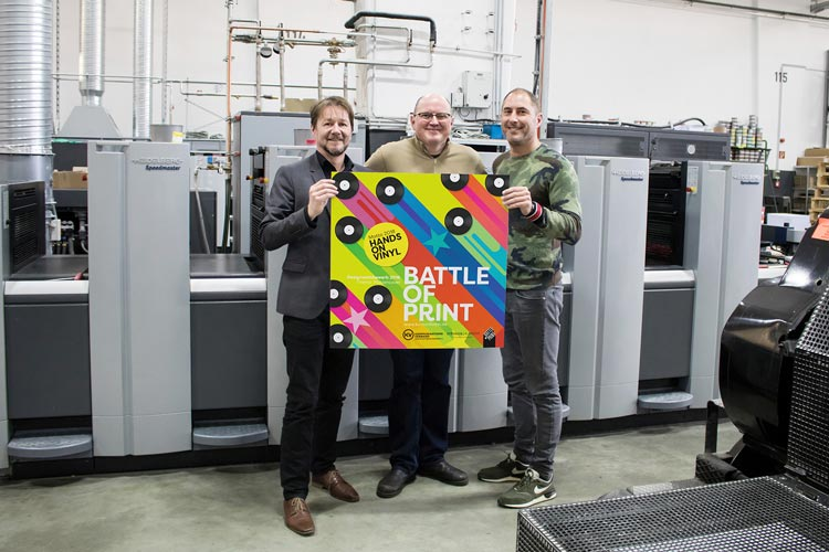 Laden zum Wettbewerb Battle of Print – Hands on Vinyl ein: Stephan Kappen, Axel Stiehler und Niclas Stürken.
