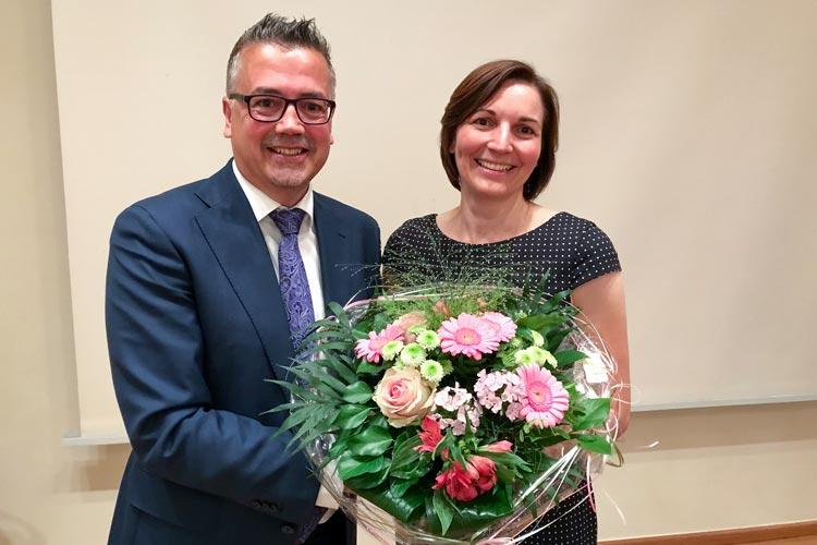 Kreisvorsitzender und Ratsherr Christoph Baak und CDU-Landtagsabgeordnete Mareike Wulf.