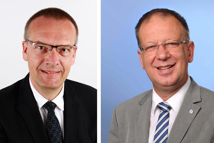 Oberkirchenrat Thomas Adomeit aus Oldenburg und Propst Dr. Dr. h.c. Johann Schneider aus Halle (Saale) kandidieren für das Bischofsamt der Evangelisch-Lutherischen Kirche in Oldenburg.