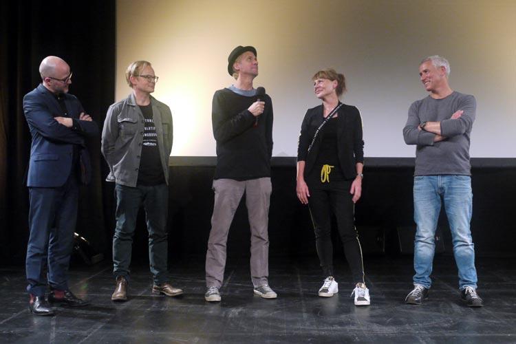 RP Kahl, Marco Hofschneider, Thomas Stiller, Ilka Fischer und Ralph Herforth sprachen über Angst in meinem Kopf.