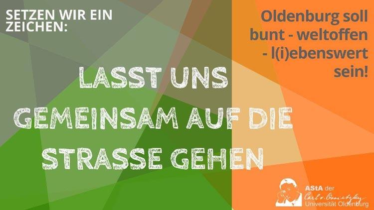 Am Donnerstagnachmittag wird für ein buntes und friedfertiges Oldenburg und gegen Gewalt demonstriert.