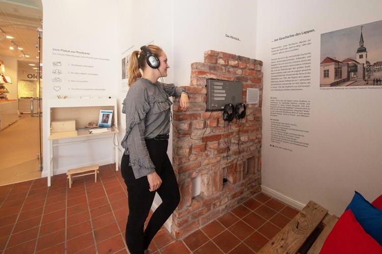 Um die Geschichte des Lappans geht es in der neuen Hörstation in der Touristinfo.