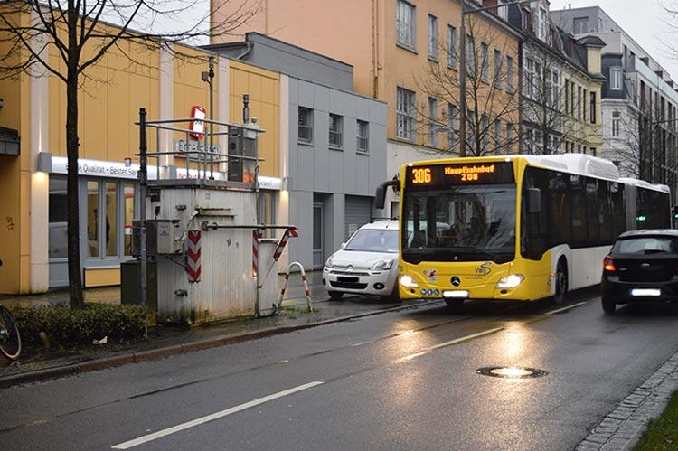 Der Standort der Messstation am Hotspot Heiligengeistwall wird überprüft.