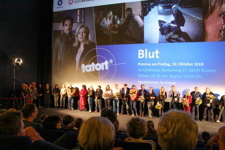 Bei der Tatort-Preview in Bremen: Mitwirkende von vor und hinter der Kamera.