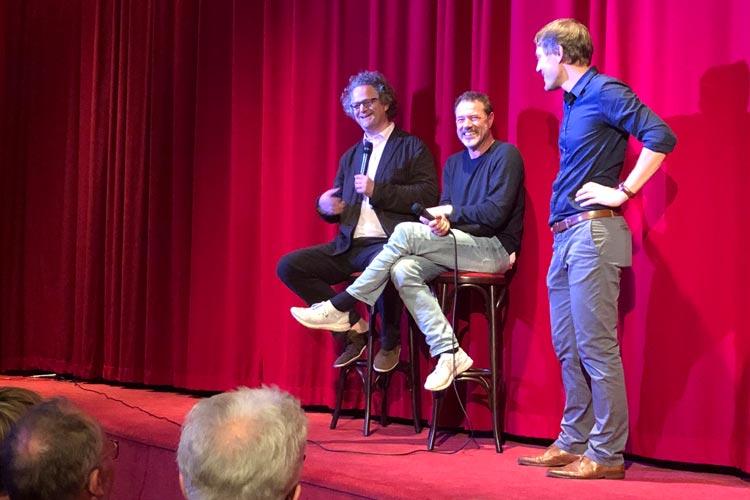 Florian Henckel von Donnersmarck und Sebastian Koch haben in Oldenburg den Film Werk ohne Autor vorgestellt.
