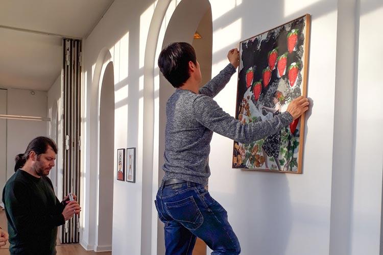Vier Künstler zeigen gemeinsam ihre aktuellen Arbeiten in der Galerie des Berufsverbands bildende Künstlerinnen und Künstler Oldenburg.