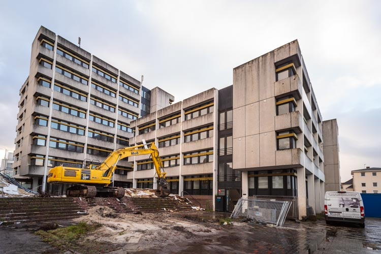 Das Finanzamt Oldenburg in der 91er Straße wird abgerissen.