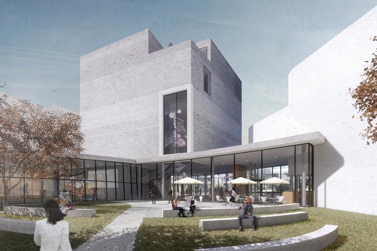 Ansicht aus dem neuen Museumsgarten.