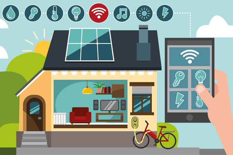 Licht, Heizung und sogar die Stereoanlage sind im Smart Home vernetzt.
