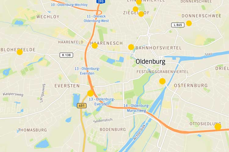 Die Ergebnisse der NDR-Luftmessaktion sind über eine interaktive Karte zu finden.