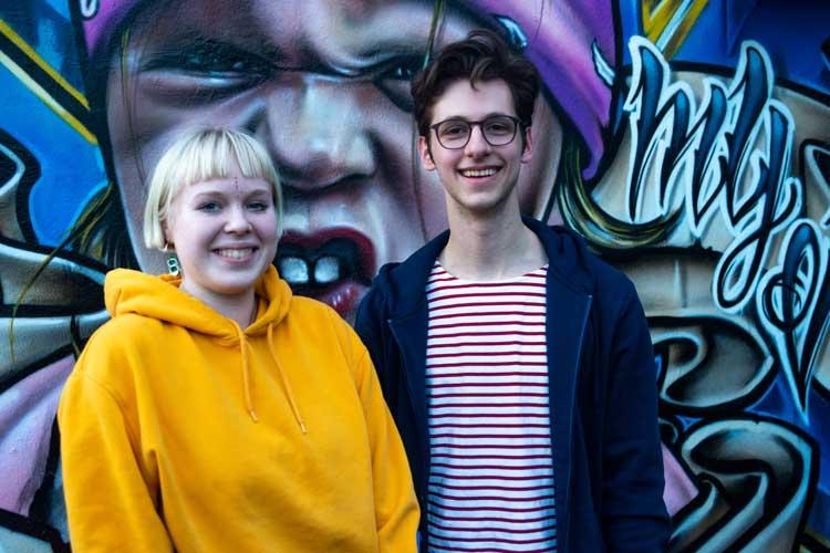 Milena Helberg und Tristan Farinella engagieren sich für ein bessere Klimapolitik.