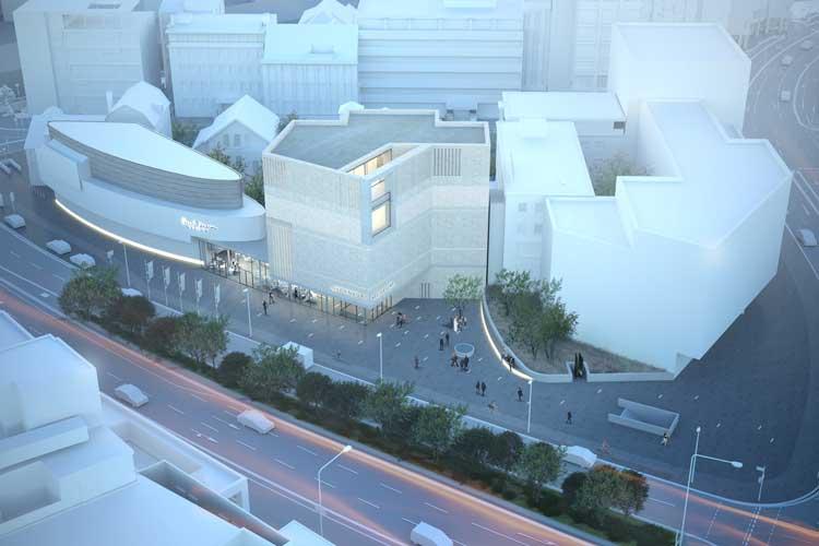 Die neue Grafik zeigt einige Änderungen des Entwurfs. Deutlich werden soll, dass der Neubau ein Ziegelmauerwerk erhält.