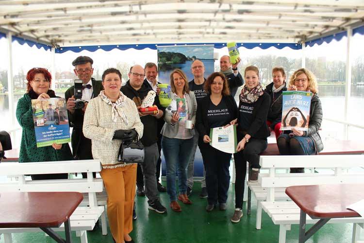 Die Organisatoren der diesjährigen Veranstaltungen gaben den Startschuss bei einer Fahrt mit der Weißen Flotte auf dem Bad Zwischenahner Meer.