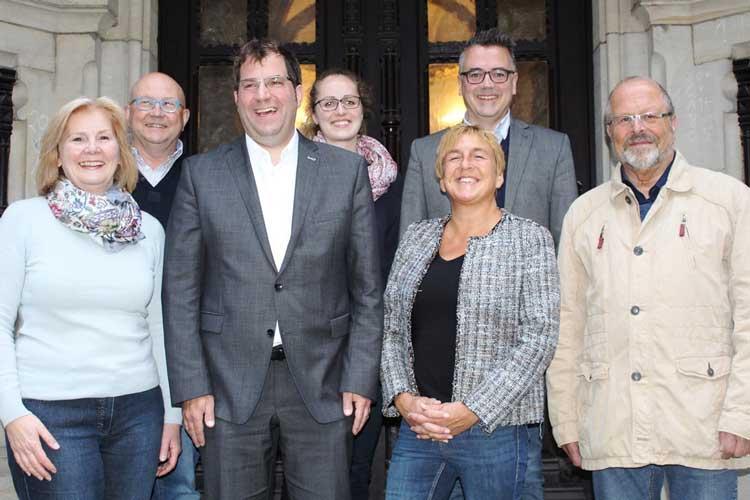 Der wiedergewählte CDU-Vorstand (von links): Petra Averbeck, Hans-Georg Heß, Olaf Klaukien, Annika Eickhoff, Dr. Esther Niewerth-Baumann, Christoph Baak und Klaus Raschke.