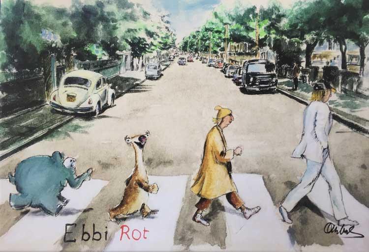 """Ebbit Rot Ice Age"" von Otto Waalkes."