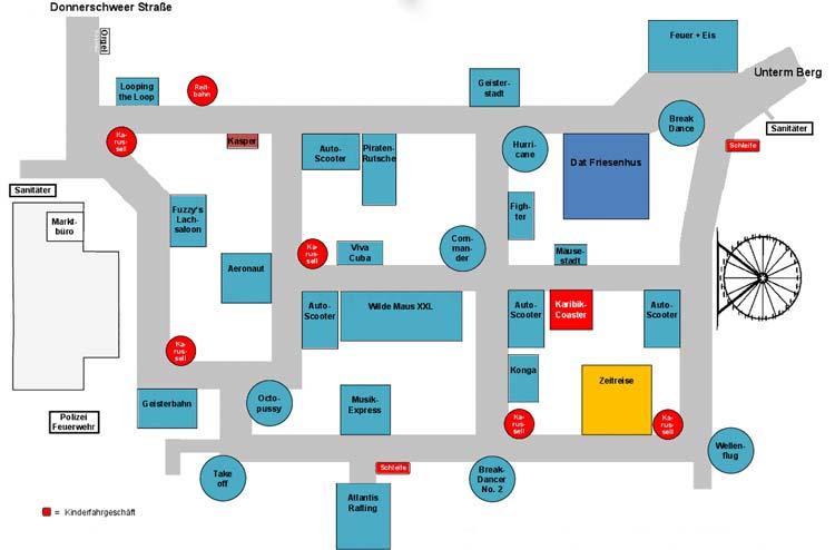 Für einen guten Überblick sorgt der Lageplan des Kramermarktes.